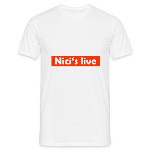 Nici's live Rot/Weiß T-Shirt - Männer T-Shirt