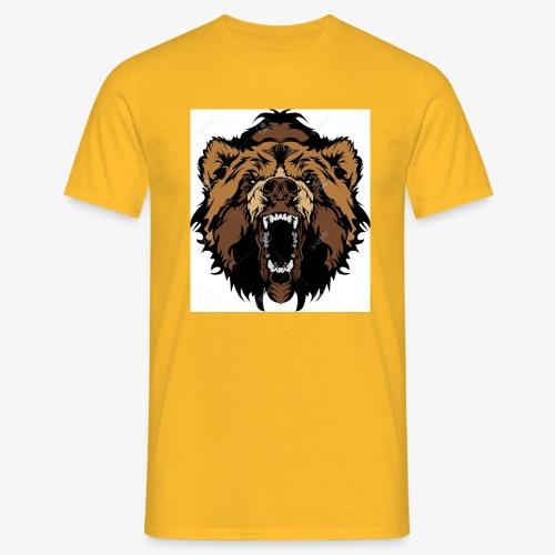 oso grizzly mascota cabeza vectorial - Camiseta hombre