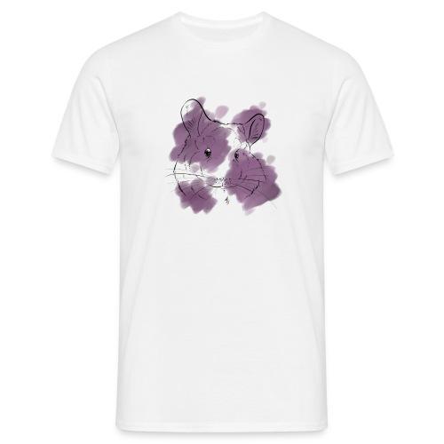 Violet splash chinchilla - Miesten t-paita