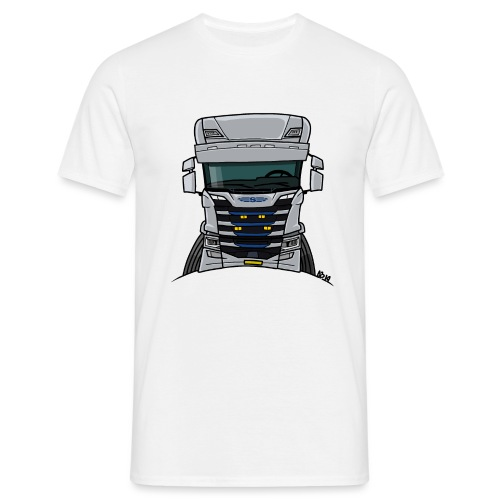 0814 S truck grill wit - Mannen T-shirt