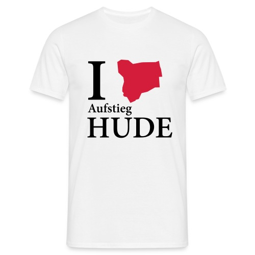 i love aufstieg schwarz - Männer T-Shirt