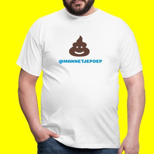 Mannetje Poep Shit - Mannen T-shirt