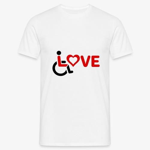 > Rolstoel liefde, rolstoelgebruiker, roller - Mannen T-shirt