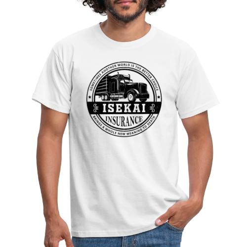 Funny Anime Shirt Isekai insurance Co. - Black - Mannen T-shirt