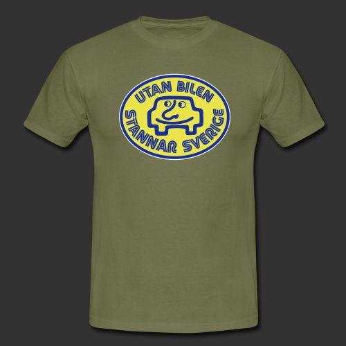 Utan bilen stannar Sverige färg - T-shirt herr