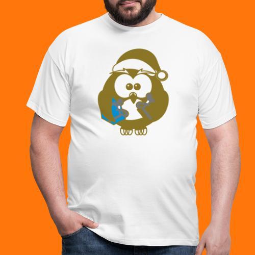 Weihnachts-Eule - Männer T-Shirt