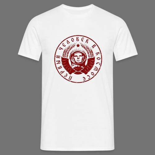 Cosmonaut 1c red (oldstyle) - Men's T-Shirt