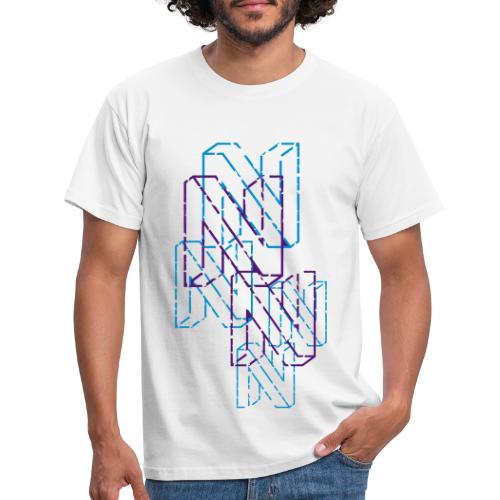 Neos logo back trashed without URL, 2-color - Men's T-Shirt