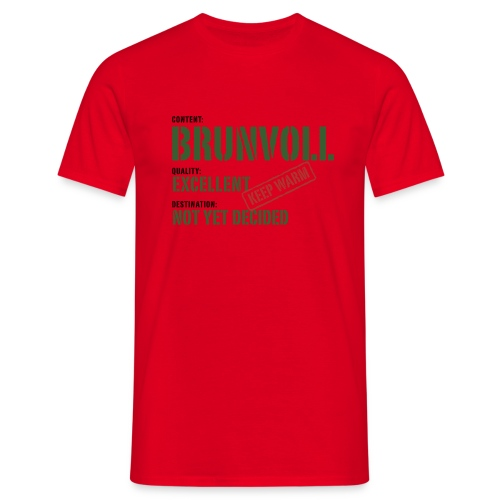 content brunvoll - T-skjorte for menn