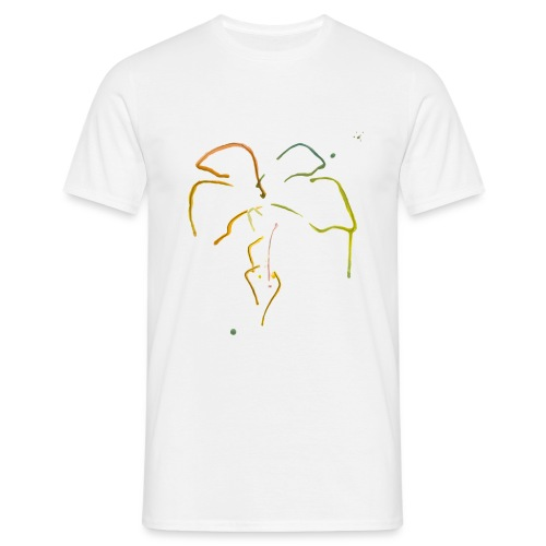 Malet palme - Herre-T-shirt