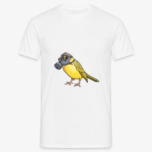Vogel mit Gasmaske - Männer T-Shirt