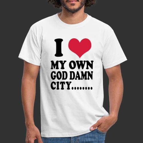 I love my own city - T-shirt herr