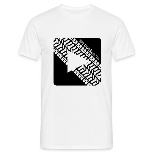 we boeken m square black - Mannen T-shirt