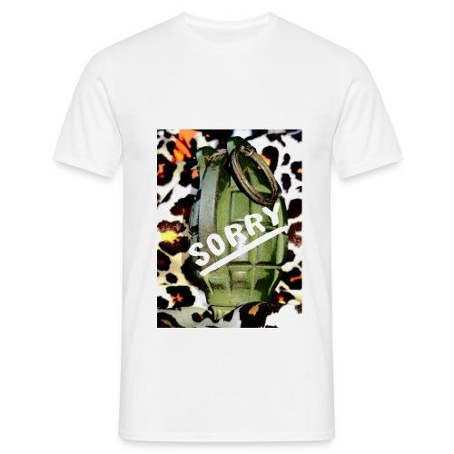 Sorry grenade - Mannen T-shirt