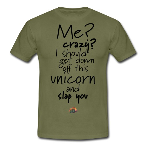 Crazy Unicorn Style (Dark) - Men's T-Shirt