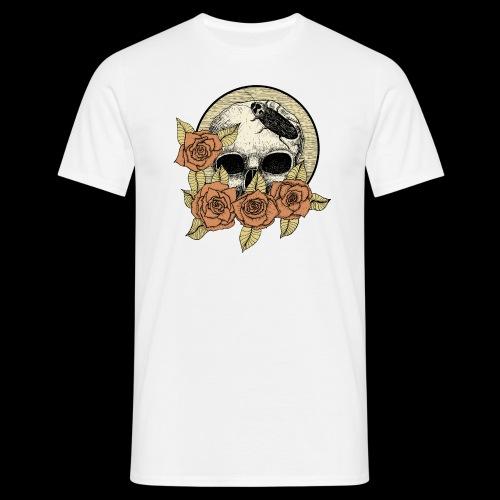 Rose et tête de mort - T-shirt Homme