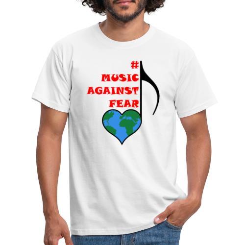 #MusicAgainstFear - Schwarz - Männer T-Shirt