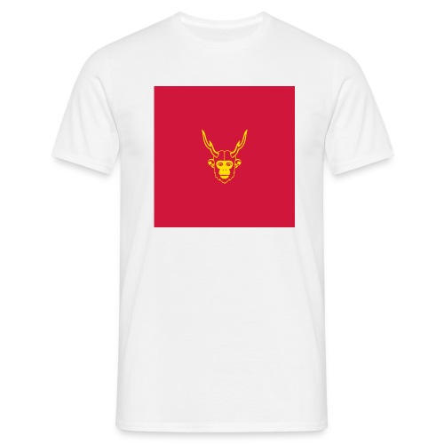scimmiacervo sfondo rosso - Maglietta da uomo