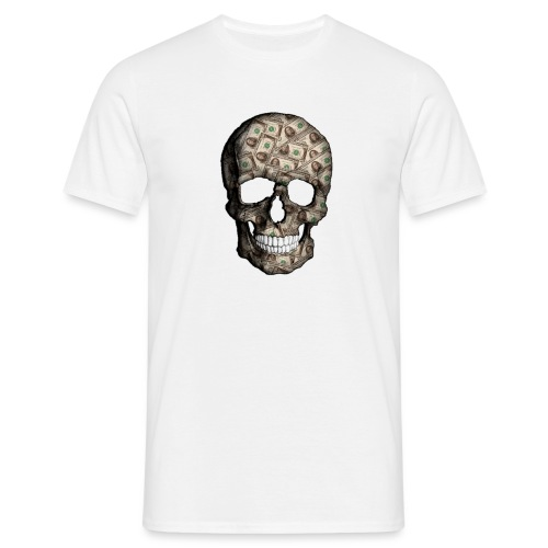 Skull Money Black - Camiseta hombre