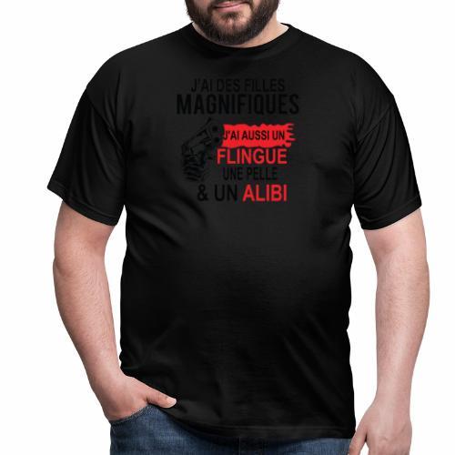 J'AI DEUX FILLES MAGNIFIQUES Best t-shirts 25% - T-shirt Homme