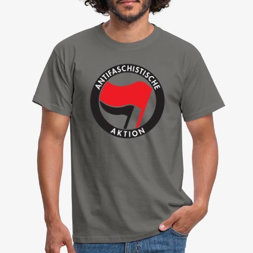Atnifaschistische Action - Antifa Logo - Men's T-Shirt