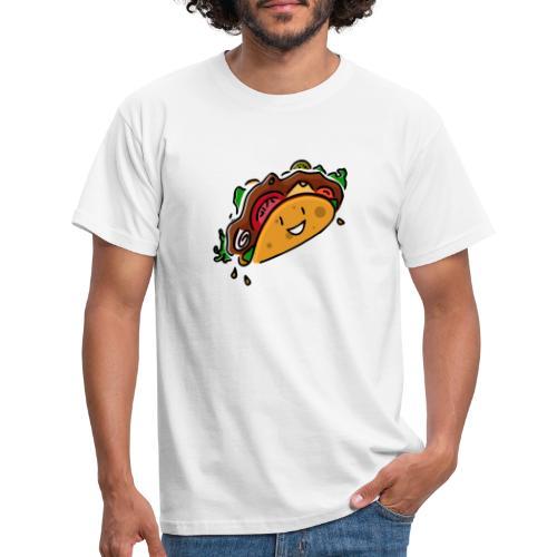 Glücklicher Taco - Männer T-Shirt