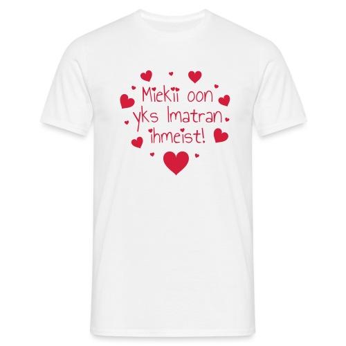 Miekii oon yks Imatran Ihmeist vauvan lh body - Miesten t-paita