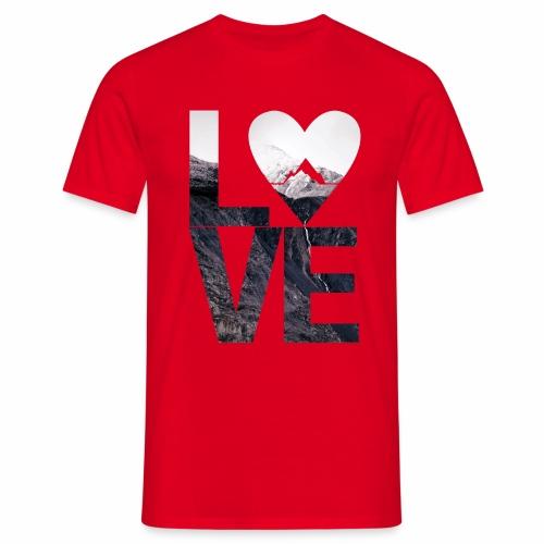 L.O.V.E - Mountains - Männer T-Shirt