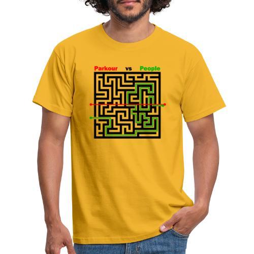 Parkour Maze parkour vs people - Herre-T-shirt