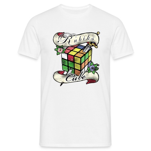 Rubik's Cube Tatoo - T-shirt herr