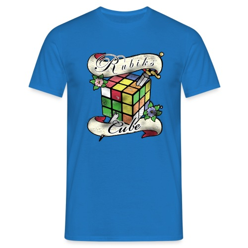 Rubik's Cube Tatoo - Men's T-Shirt