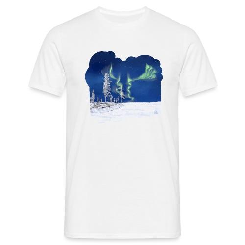 hiver avec des aurores boréales - T-shirt Homme