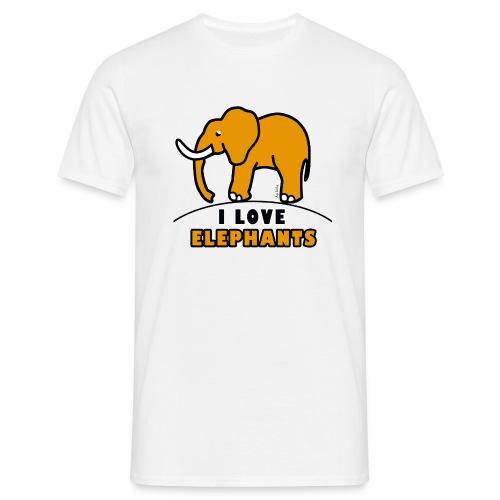 Elefant - I LOVE ELEPHANTS - Männer T-Shirt