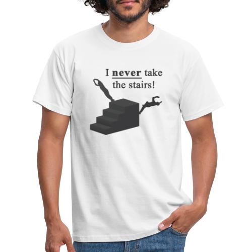 I Never Take The Stairs Grey Parkour - Herre-T-shirt