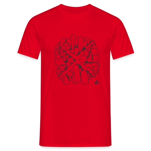 croix en perspective - T-shirt Homme