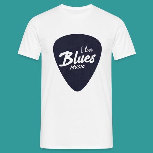I Love Blues Music Guitar Pick - Men's T-Shirt