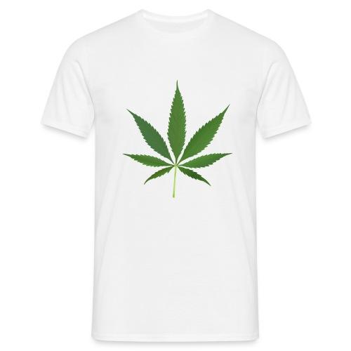 2000px-Cannabis_leaf_2 - Herre-T-shirt