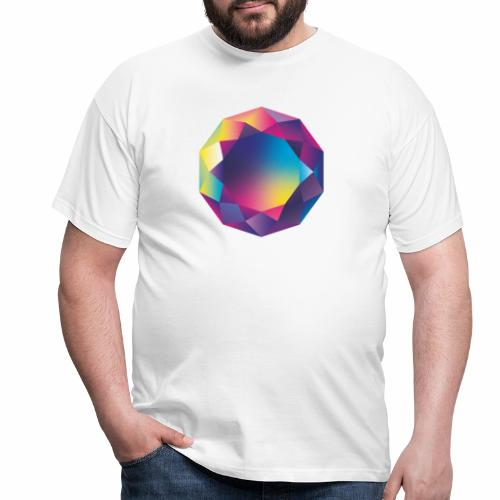 Diamond geometric illustration - Men's T-Shirt