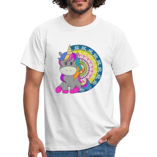Unicorno Mandala - Maglietta da uomo