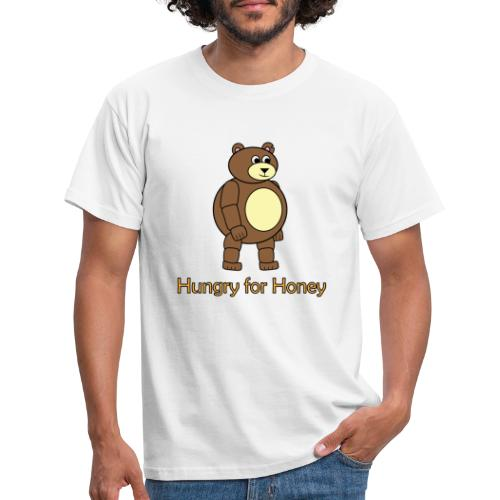 Bär - Hungry for Honey - Männer T-Shirt