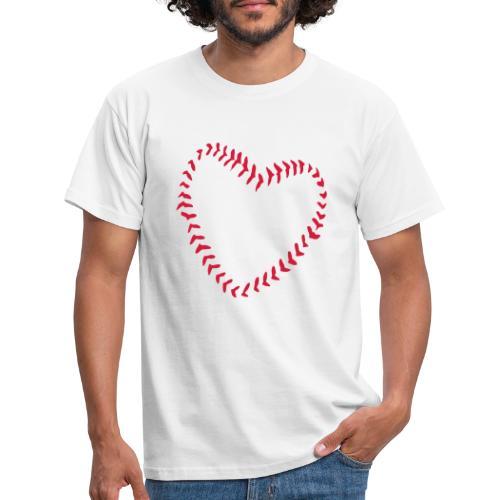 2581172 1029128891 Baseball Heart Of Seams - Men's T-Shirt