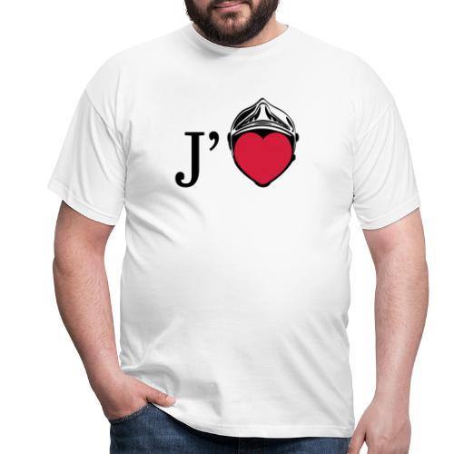 j aime les pompiers - T-shirt Homme