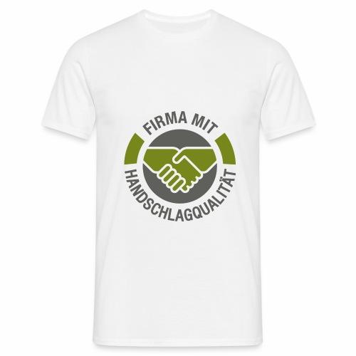 Handschlagqualität Logo grau - Männer T-Shirt