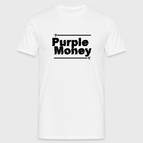 PurpleMoney Glitch Logo - Men's T-Shirt