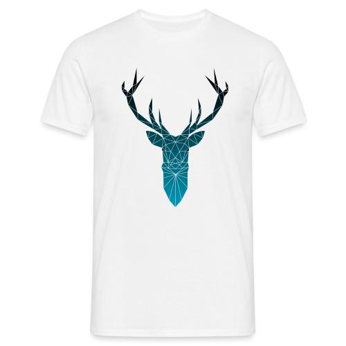 Hirsch blau im Triangel-Design - Männer T-Shirt