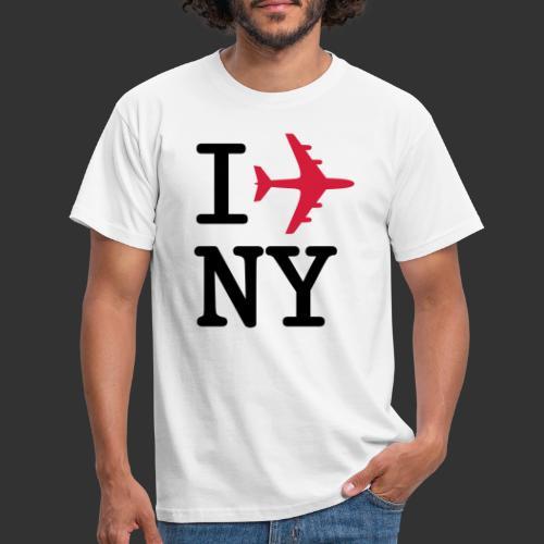 I plane NY - T-shirt herr