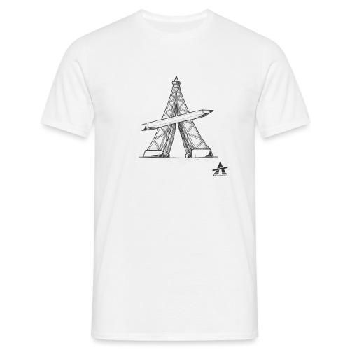 Tour Eiffel Crayon - T-shirt Homme