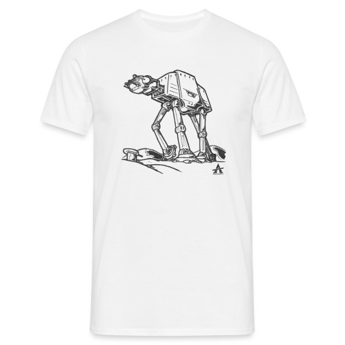 AT AT Walker ligne d'esquisse - T-shirt Homme