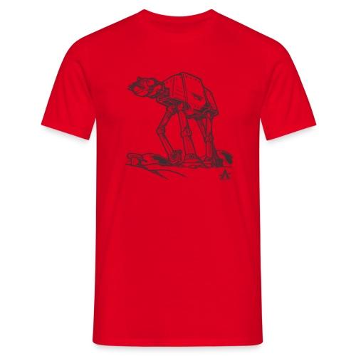 AT AT Walker ligne d'esquisse - T-shirt Homme