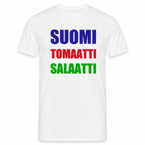 SUOMI SALAATTI tomater - T-skjorte for menn